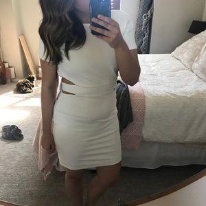 NWT LuLu's White Cutout Bodycon Dress